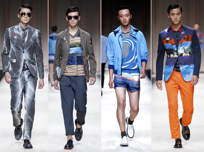 мужская одежда с ярким орнаментом