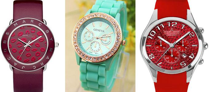 женские наручные часы с крупным циферблатом