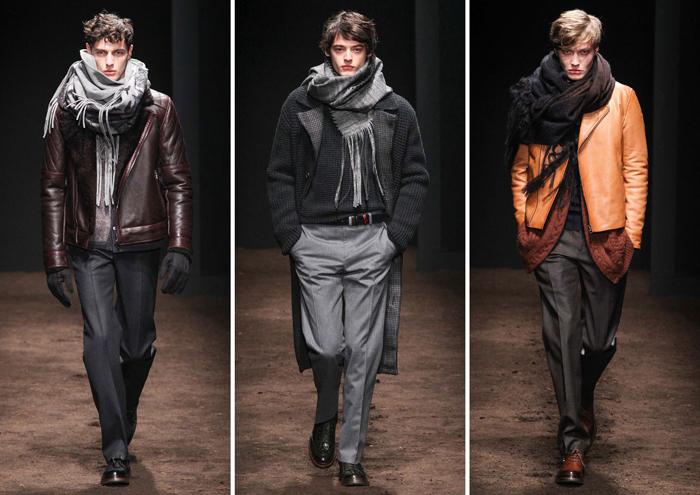 объемные мужские шарфы