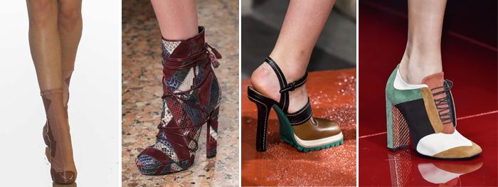 обувь в лоскутной технике от Just Cavalli, Marni и Emilio Pucci