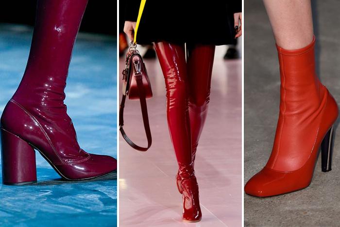 обувь ярко-алого цвета от Alexander McQueen и Christian Dior