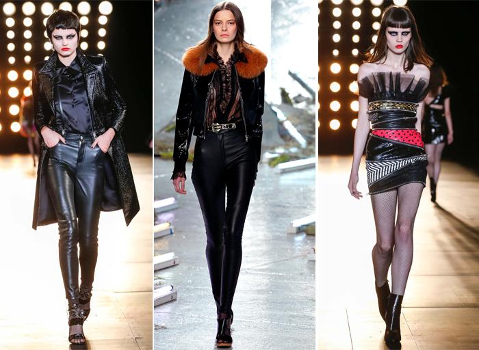 одежда осень-зима 2015-2016 от Saint Laurent и Rodarte