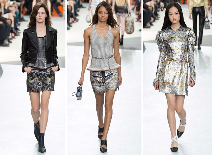 Louis Vuitton 2015-2016 одежда с блестящими элементами