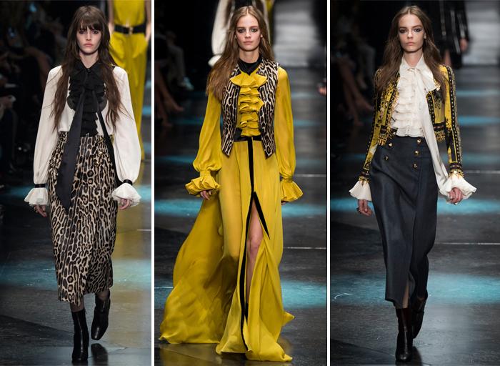 одежда в викторианском стиле от Roberto Cavalli