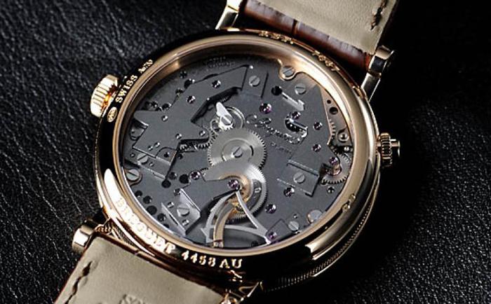 серое покрытие часового механизма Breguet Tradition 7067BR/G1/9W6