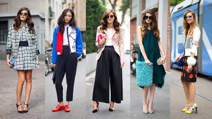 стильный гардероб молодой женщины