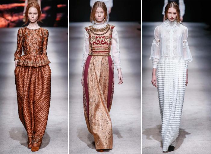 викторианский стиль одежды Alberta Ferretti