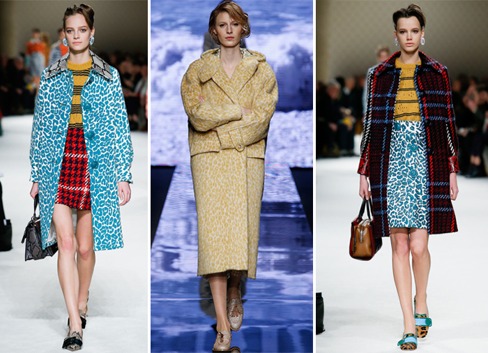 яркие цвета леопардового окраса в одежде от Miu Miu и Max Mara