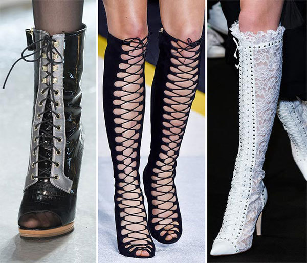 экстравагантные модели обуви со шнуровкой