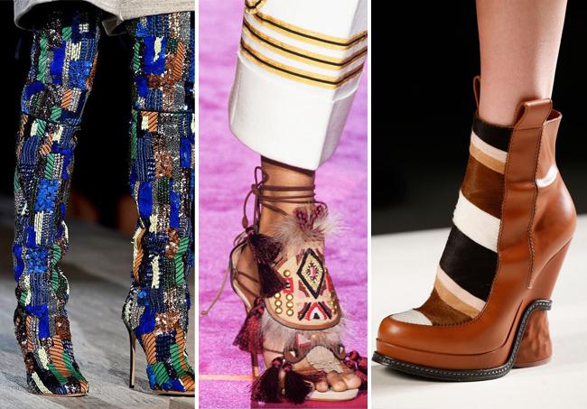 комбинация текстур женской обуви