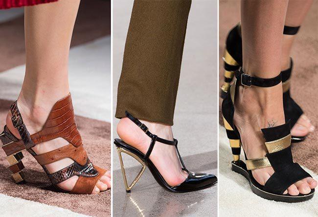 модные каблуки женской обуви