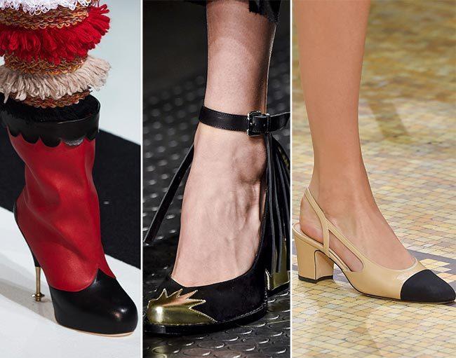 носки и задники женской обуви