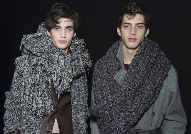 пышные мужские шарфы