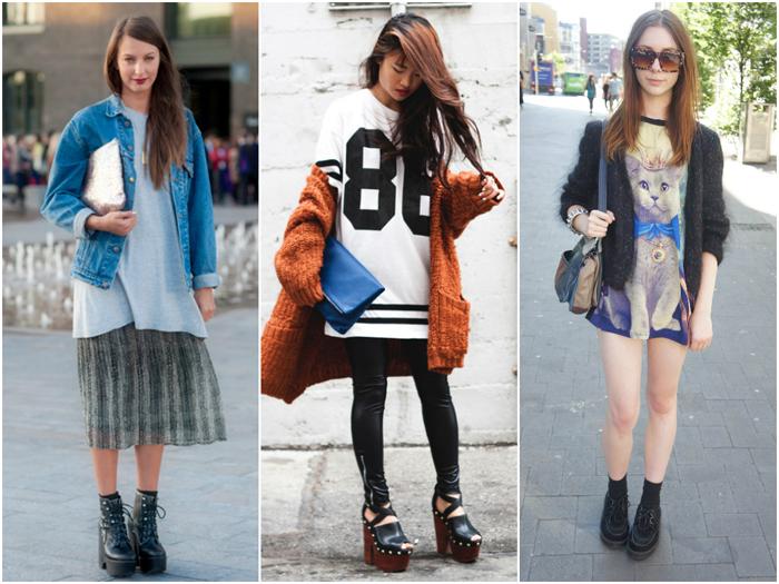 одежда в стиле Оверсайз на стройных девушках