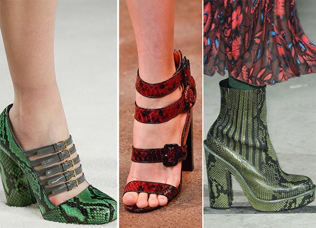 туфли из кожи рептилий