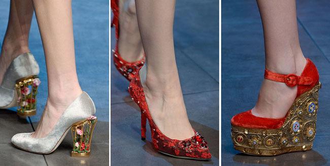 женская обувь с декорм