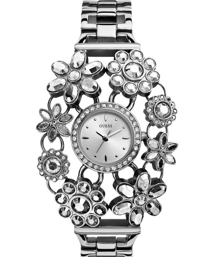 имиджевые часы Guess с кристаллами