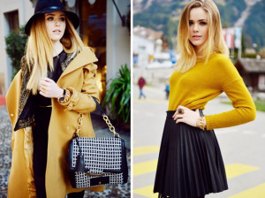 женская одежда желто-коричневого цвета