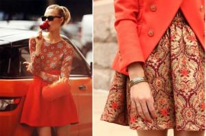 модная женская одежда персикового цвета