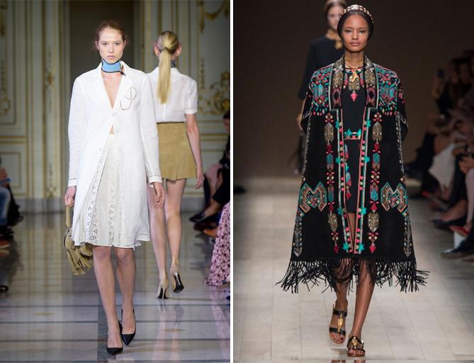 модный показ одежды от Валентино