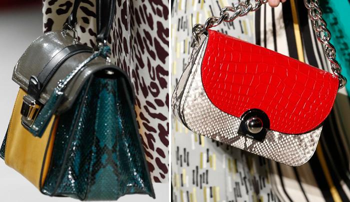 женские портфели со змеиными принтами