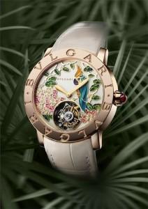Bvlgari женские ювелирные часы с попугаем на циферблате