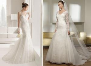 дорогие модели свадебных платьев с французским кружевом
