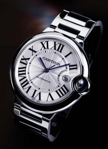 синие стрелки женских наручных часов Cartier
