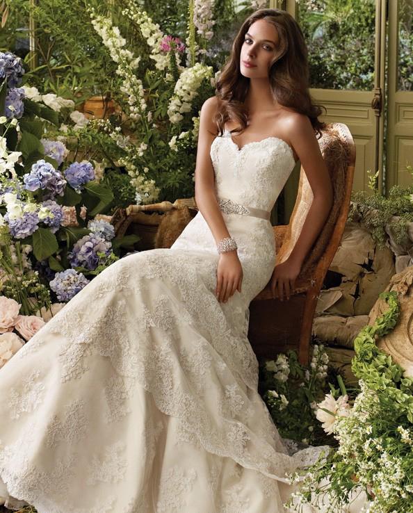 свадебное платье ампир с кристаллами