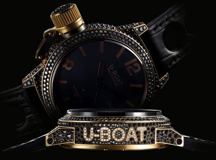 золотые часы U-BOAT коллекция BLACK SWAN