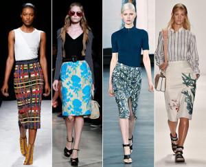 цветовая палитра модных юбок
