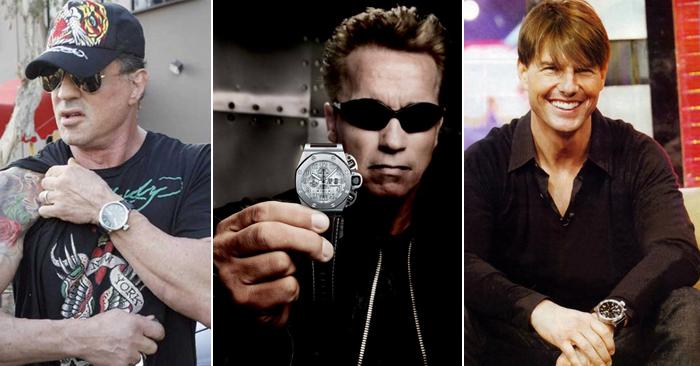 Поклонники наручных часов U-BOAT: актеры Арнольд Шварценеггер, Сильвестр Сталлоне и Том Круз