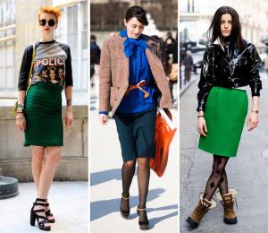модные туфли с юбкой-карандаш