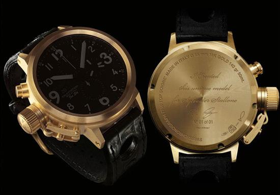 золотые часы Сильвестра Сталлоне U-BOAT FLIGTHDECK